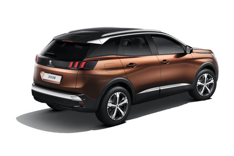 Peugeot 3008 SUV 1.2 PureTech 130PS GT 5Dr EAT8 [Start Stop] back view